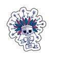 do or die skull sticker vector image