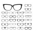 eyeglasses set and eyewear different style vector image