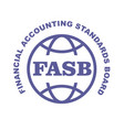 fasb stamp - financial accounting standards board vector image vector image