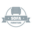 furniture sofa logo simple gray style vector image