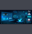 futuristic user interface hud ui vector image vector image