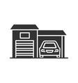 garage glyph icon vector image