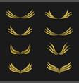 golden wings emblem vector image vector image