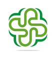 green arch element design icon vector image vector image