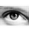 halftone eye vector image vector image