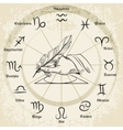 Hand drawn zodiac icons vector image vector image
