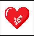heart icon love happy valentines day card vector image vector image