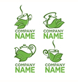 herbal tea logo vector image vector image