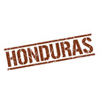 Honduras brown square stamp vector image vector image