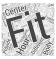 hour fitness Word Cloud Concept vector image vector image