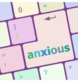 Keyboard with Enter button anxious word on it vector image vector image