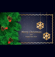 merry xmas banner realistic style vector image
