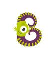 monster alphabet symbol letter b english