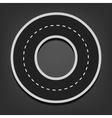 O letter Road font vector image vector image