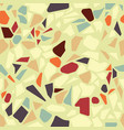 organic terazzo abstract modern yellow green vector image vector image