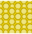Pattern of yellow circles vector image vector image