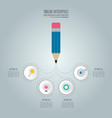 pencil with timeline infographic design vector image vector image