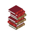 pile books lot book vector image