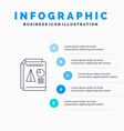 report presentation pie chart business line icon vector image