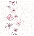 Seamless floral vertical pattern vector image