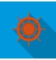 Ship wheel icon flat style vector image vector image