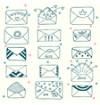Sketch style mail message or envelope Hand drawn vector image vector image