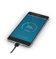 Smartphone Charging Isolated vector image