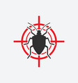 stink bug icon red target insect pest control vector image vector image
