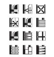 Suspended facades of buildings vector image vector image
