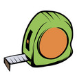 tape measure icon cartoon vector image