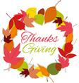 thanks giving wreath vector image vector image