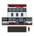 the paper model of a small city bus vector image
