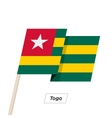Togo Ribbon Waving Flag Isolated on White vector image vector image