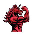 unicorn bodybuilder muscular body vector image