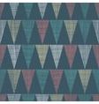 Vintage Dark Grey Bunting Flags Triangles vector image