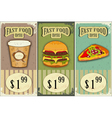Vintage fast food labels vector | Price: 3 Credits (USD $3)