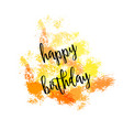 watercolor greeting card - happy birthday vector image vector image