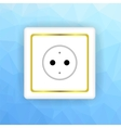 White Socket Icon vector image