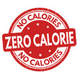 zero calorie sign or stamp vector image vector image
