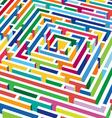 3d labyrinth vector image