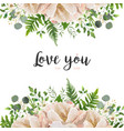 card floral flower bouquet design with peach pink vector image
