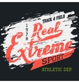 Real extreme sport t-shirt typographic design vector image