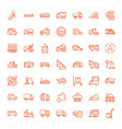 49 truck icons vector image vector image