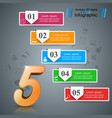abstract 3d digital infographic five vector image