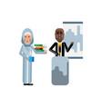 african speaker doing business presentation vector image vector image