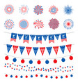 american flag color banners garlands vector image