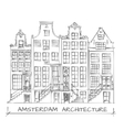 Amsterdam Architecture Drawing vector image