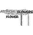 artificial flower arrangements text background vector image vector image