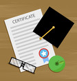 bachelor degree and certificate vector image