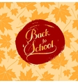 Back To School retro label vector image vector image